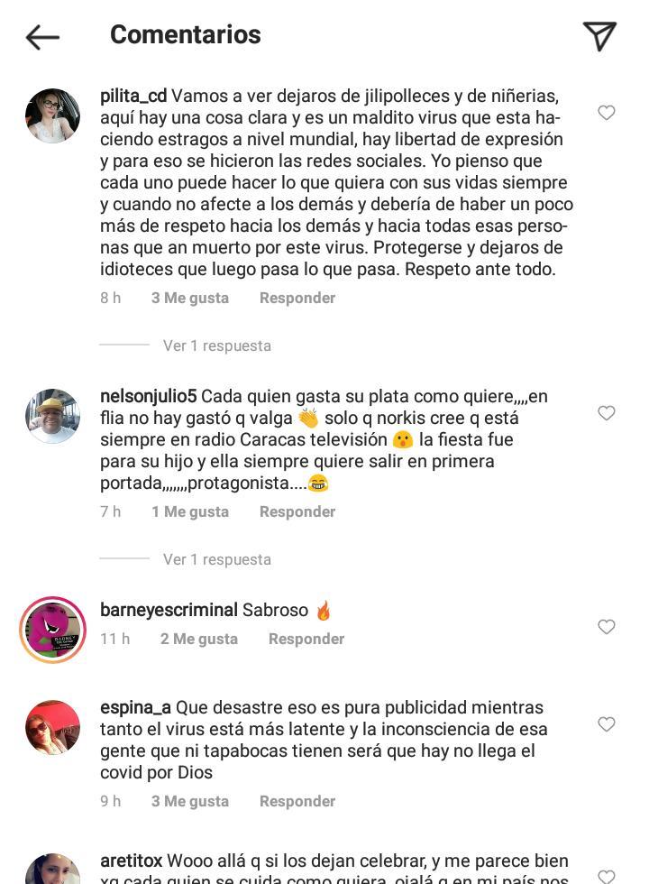 Críticas a Norkys Batista por la fiesta de Sebastián-3