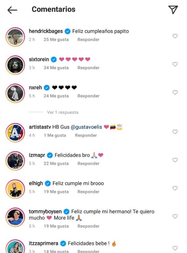 comentarios por el cumpleaños de gustavo elis