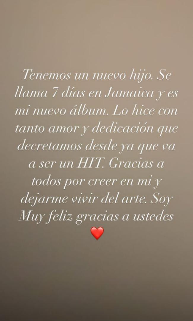 historia de instagram de Maluma - 7DJ