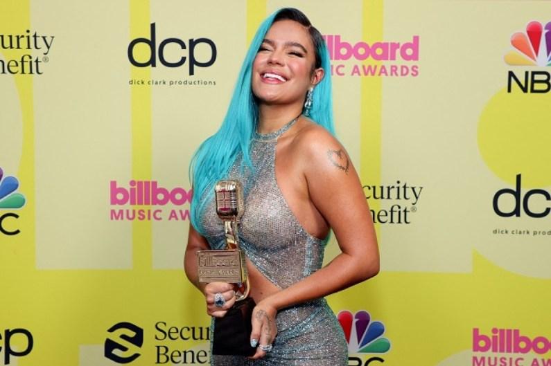 Karol G en los premios Billboard Music Awards 2021