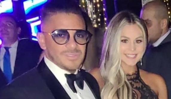 Oscarcito junto a Cinthya en la boda de Norkis Batista