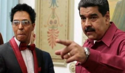 Bonny Cepeda y Nicolás Maduro
