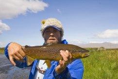 Rodrigo with a brown from arroyo pescado