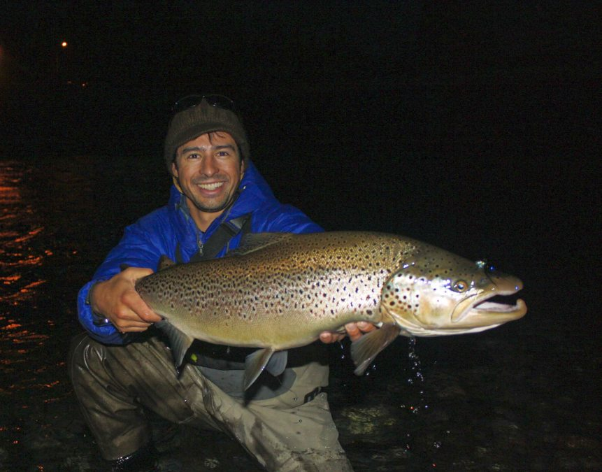 Brown trout rio limay faraway fly fishing for Rio fly fishing