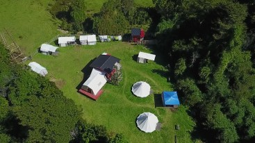Austral king camp from the air