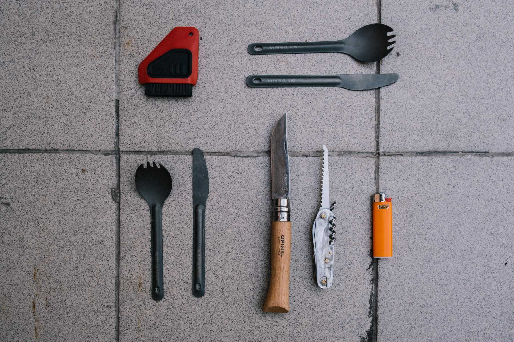 Our bikepacking cutlery and  knives