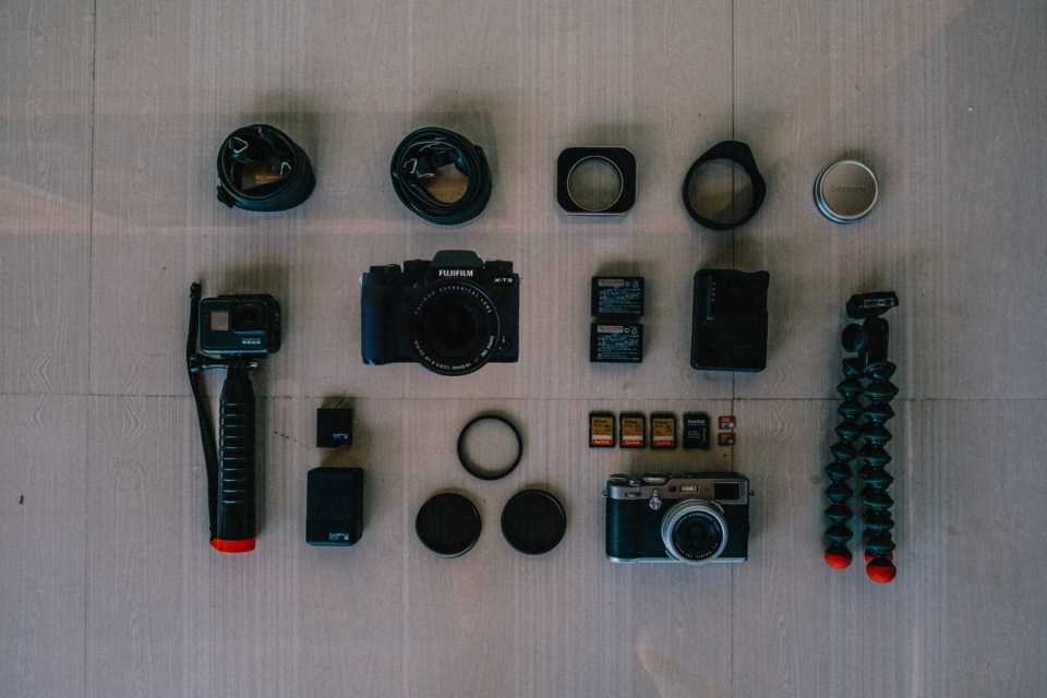 Fujifilm X100F and XT3 GoPro Hero7 Black plus accessories