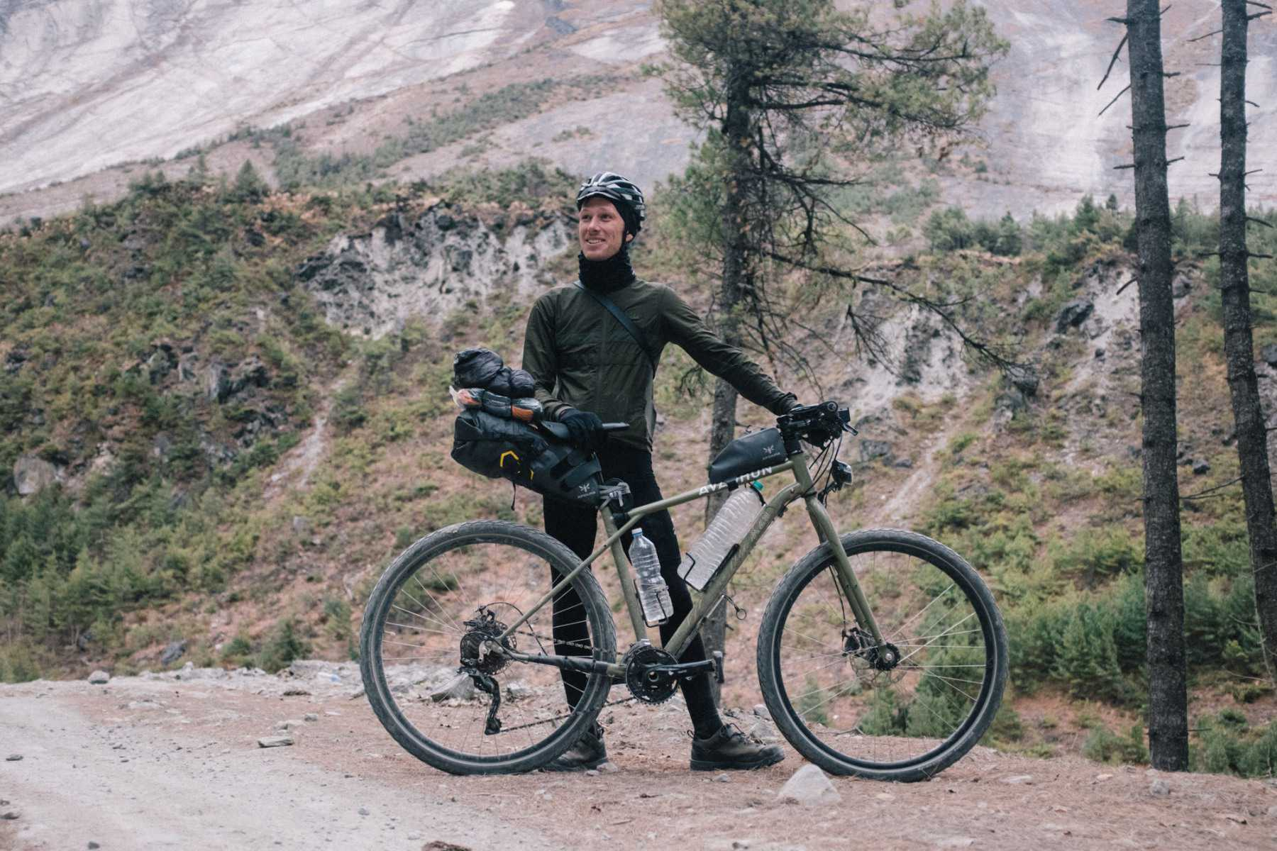 Robin with his Avaghon X29 Apidura saddle pack expedition series