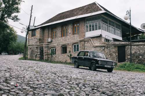 Old Russian Lada in Sheki, Azerbaijan