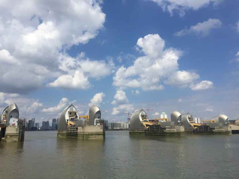 thames path - thames barrier