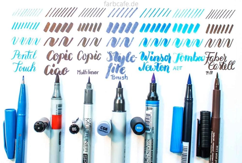 Brush Pen Vergleich auf FarbCafé
