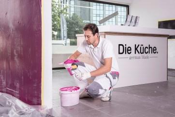 Maler- Farbgestalter - Sichtbetonoptik Küche Hannover