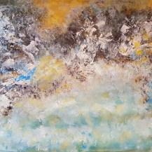 Acryl auf Canvas - tosendes Meer