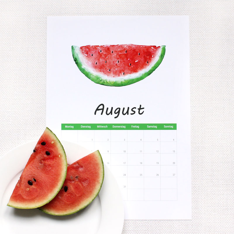 Kalender August 2017 Free Download Ausdrucken Gratis
