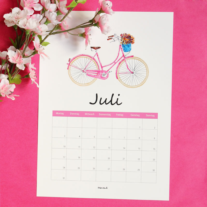 Kalender Juli 2017 Free Download Ausdrucken Gratis