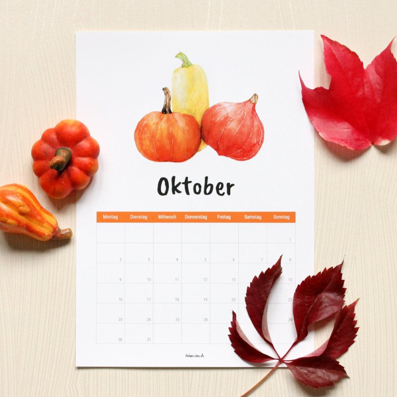 Kalender Oktober 2017 Free Download Ausdrucken Gratis