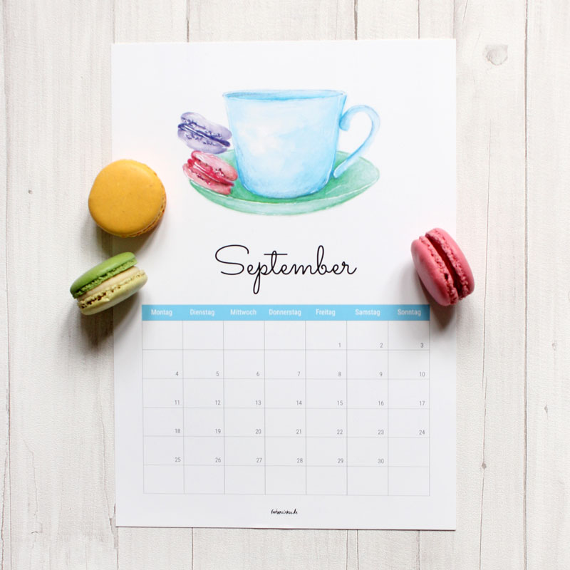 Kalender September 2017 Free Download Ausdrucken Gratis