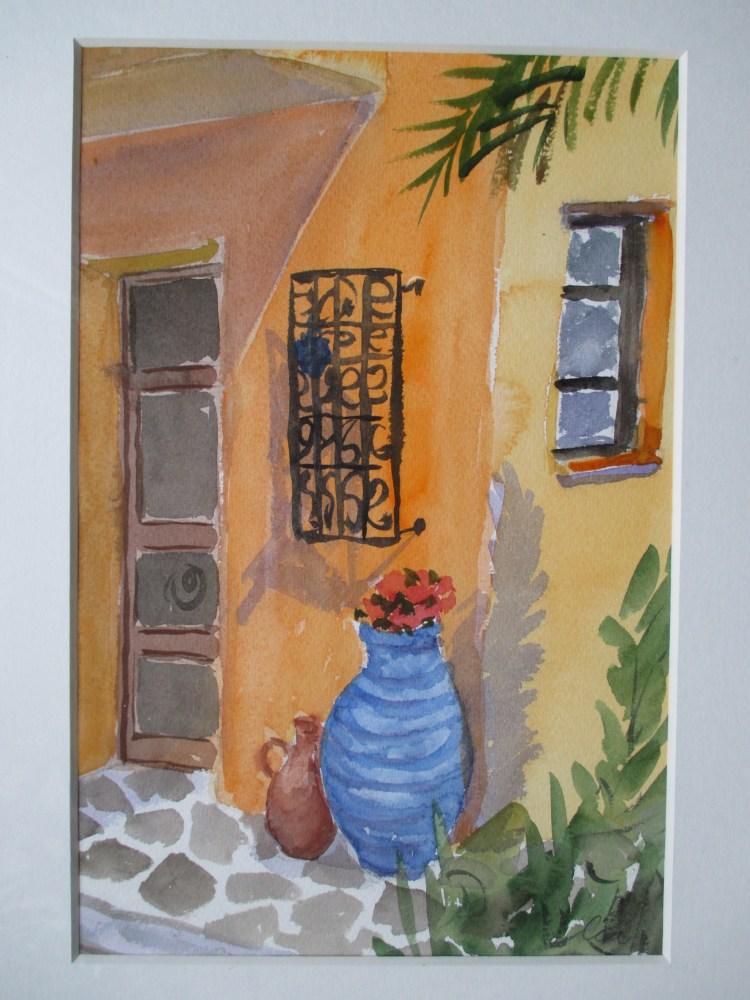 Cia Sutinen ställer ut bilder från Aegina hos Farbror Nikos
