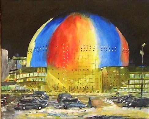 Globen av Bertil Jansson - utställning på Farbror Nikos restaurang, café, galleri & jazzklubb