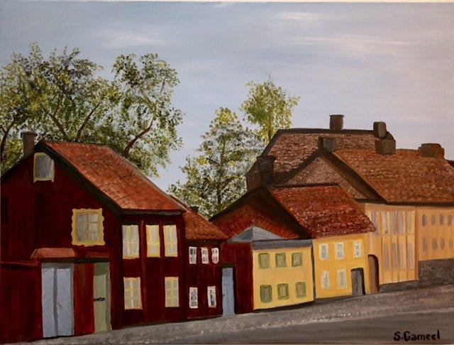 Nytorget på Södermalm - tavla av Shamal Gameel
