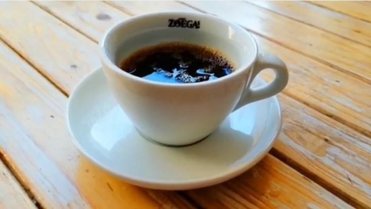 Espresso bryggd på Zoegas kaffe dark zenith