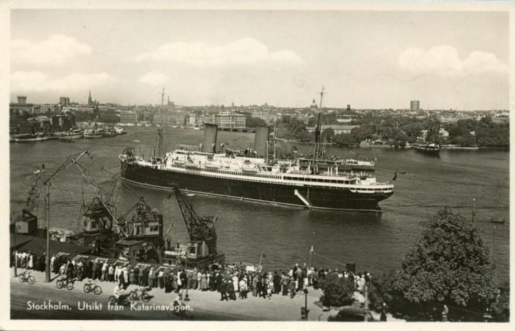Utsikt från Katarinavägen, 1945