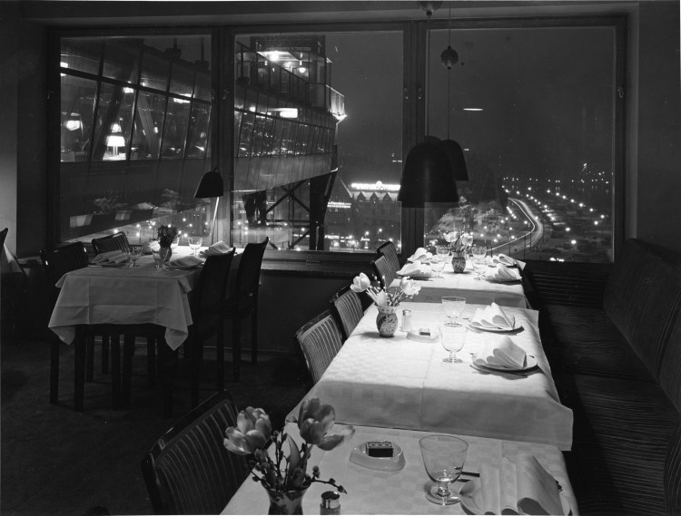 Restaurang Gondolens interiör, 1962