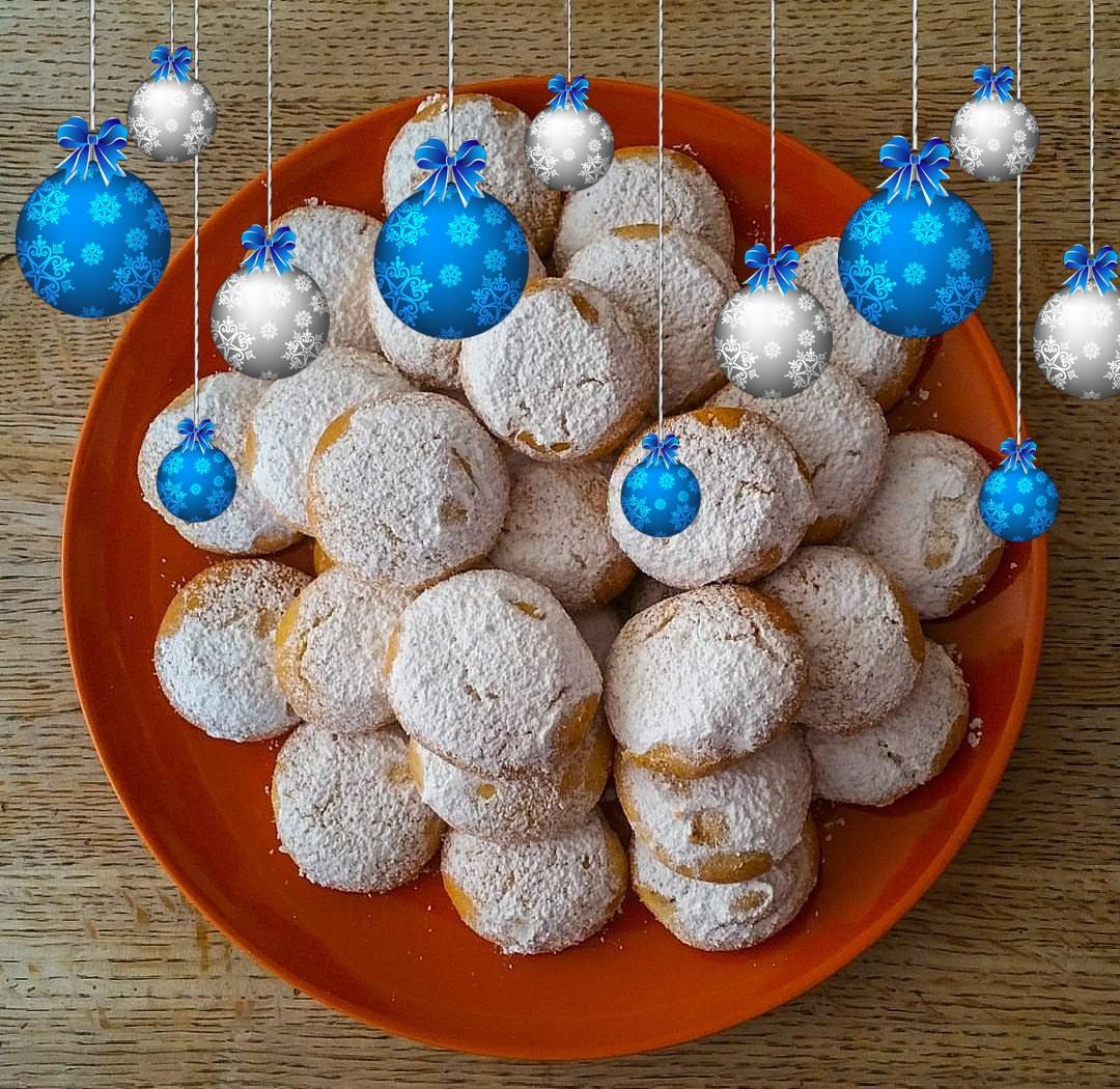 Grekiska mandelkakor, grekiska julkakor eller kourabiedes