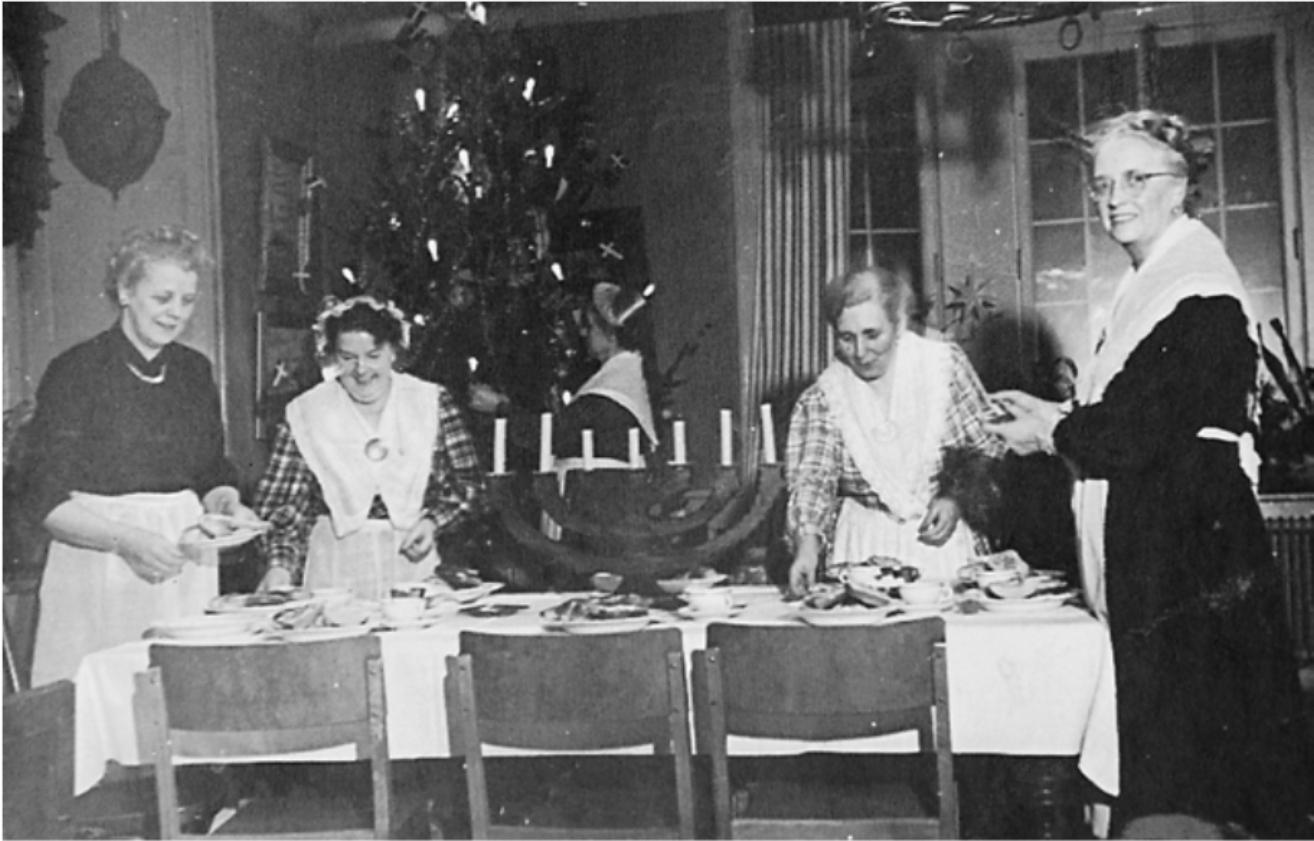 Julmiddag i Sjömansinstitutet på Katarinavägen 19 i Stockholm