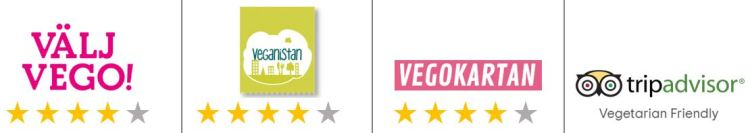 Bra vegetarisk restaurang på Södermalm i Stockholm enligt Vegan i stan, Vegokartan, TripAdvisor och Välj vego!