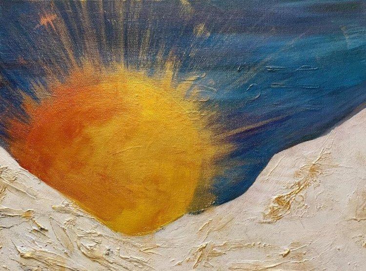 Tavlan Sunrise av Annie Helin