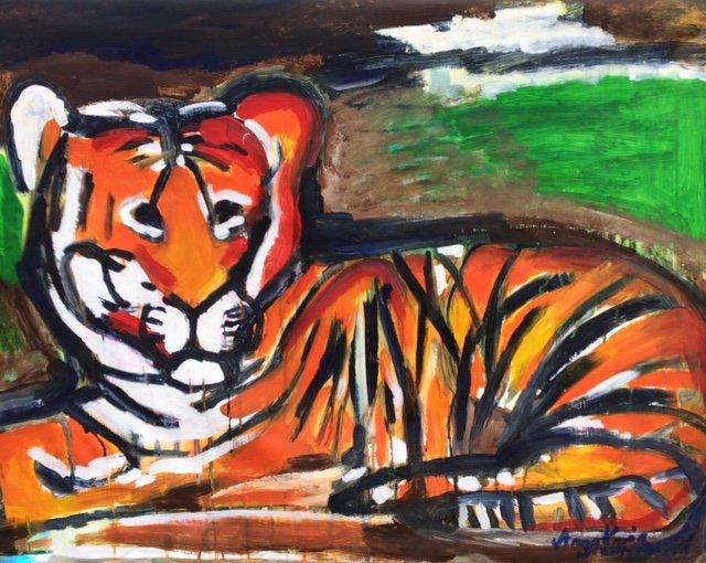 Anna-Jarin Svedjestrand - Tigrar - Konstutställning på Södermalm