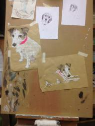 Skizzen zu Olga Sketches