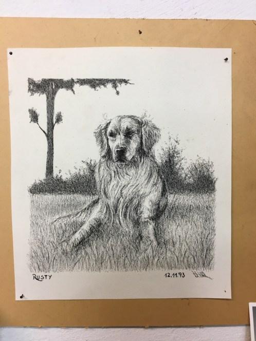 Rusty, Tinte auf Papier Rusty, Ink on paper