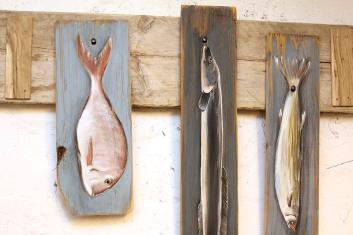 Fische am Haken Foto: Bärbel Recktenwald