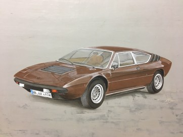 Lamborghini Acryl auf Holz ca 65x45cm