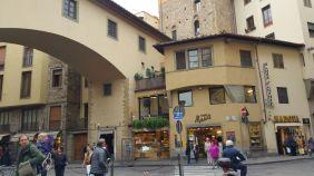 at the corner of Ponte Vecchio