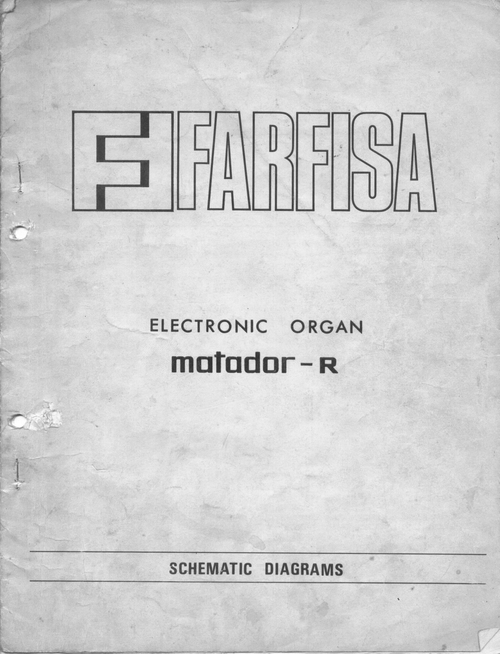 Farfisa Matador R Electronic Organ Schematic Diagrams Click On The To Open A Larger Version In New Window Or If You Need Save Them Look At Of Page Just Right Image And Target As