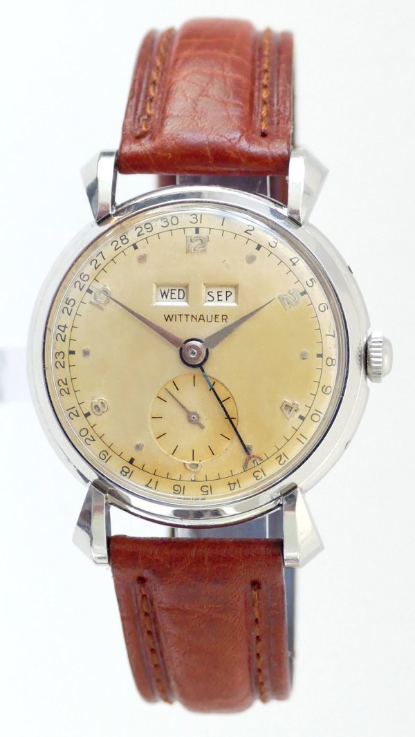 Wittnauer Triple Date Large 36mm Watch