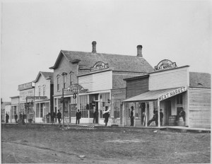 View on 500 block, Front Street, Fargo, N.D., Downtown, 1878