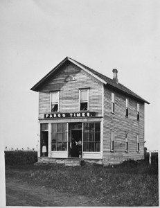 Office of the Fargo Times, 1876