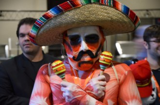 """This mariachi-themed titan from """"Attack On Titan"""" was spotted dancing in a main hallway."""