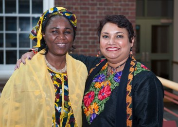 Dr. Farhana Sultana with Hauwa Ibrahim, human rights lawyer & Sakharov Laureate 2005, at Syracuse University, 2014