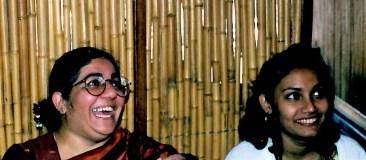 Dr. Farhana Sultana with Dr. Vandana Shiva, famous activist & scholar, University of Minnesota, 1997