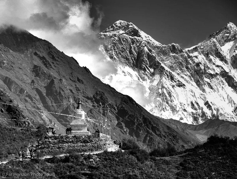 Mount Everest and the Stupa