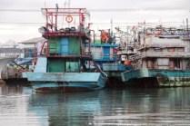 parkiran kapal di Muara Angke