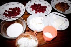 Cheesecake ai lamponi, farinaeuova