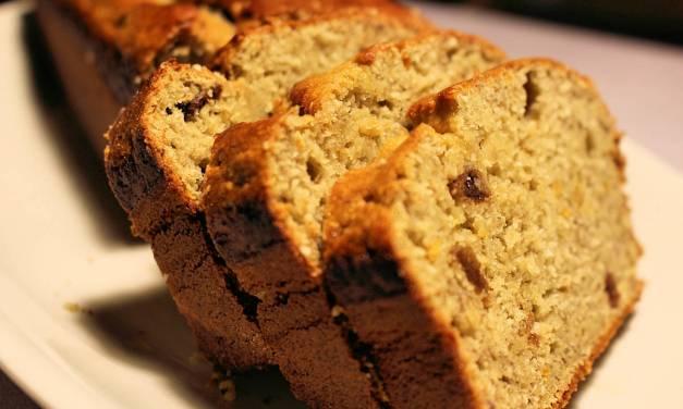 Plumcake farina di ceci e banane: dolce con fruttosio