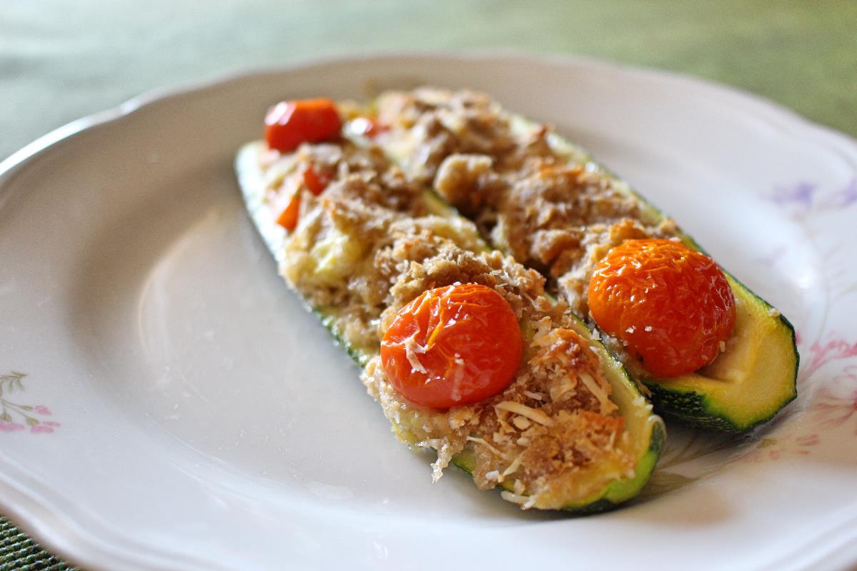 Zucchine ripiene con farina di orzo