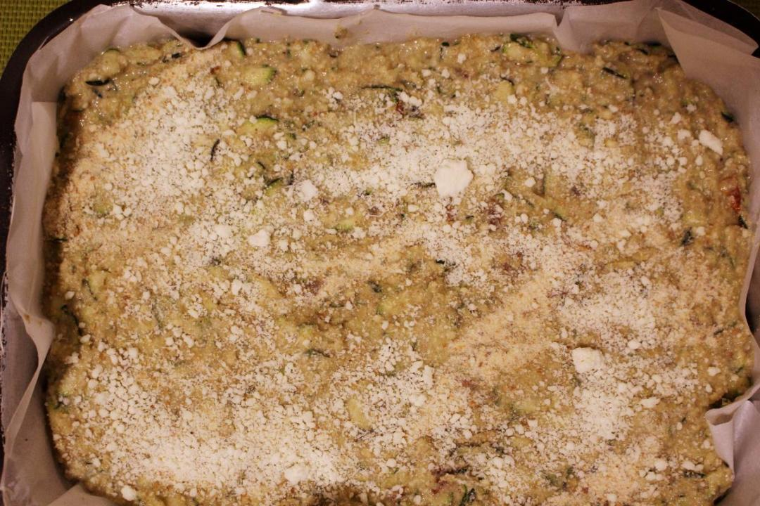 Sformato di zucchine e farina di orzo